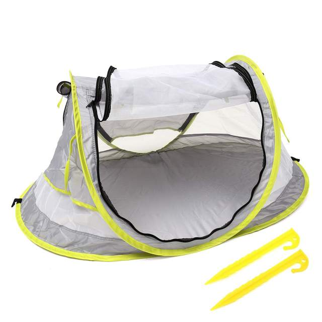 Baby Travel Bed Toy Tent Portable Baby Beach Tent UPF 50+ Sun Shelter Folding Outdoor Chid Travel Bed Mosquito Net Toy New 1