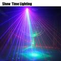 Показать время 6 отверстий сканер лазерный свет rgb узор лазер dj КТВ диско лазерный проектор dmx Лазерная Вечеринка домашнее развлечение