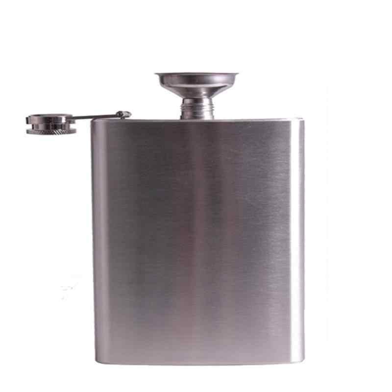 ステンレス鋼 18 オンスヒップフラスコ酒ウイスキーアルコールフラスコスクリューキャップ漏斗ポータブルスプーンキッチンアクセサリー