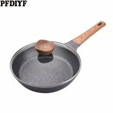 20-28 см медицинская каменная антипригарная сковорода новая Блинная сковорода для стейка без испарений с/без крышки используется для газовой и индукционной плиты