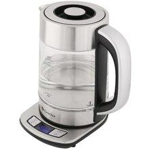Чайник электрический GEMLUX GL-EK897DDK (Мощность 2200 Вт, стеклянный корпус, объем 1,7 л., Функция установки и поддержания температуры)