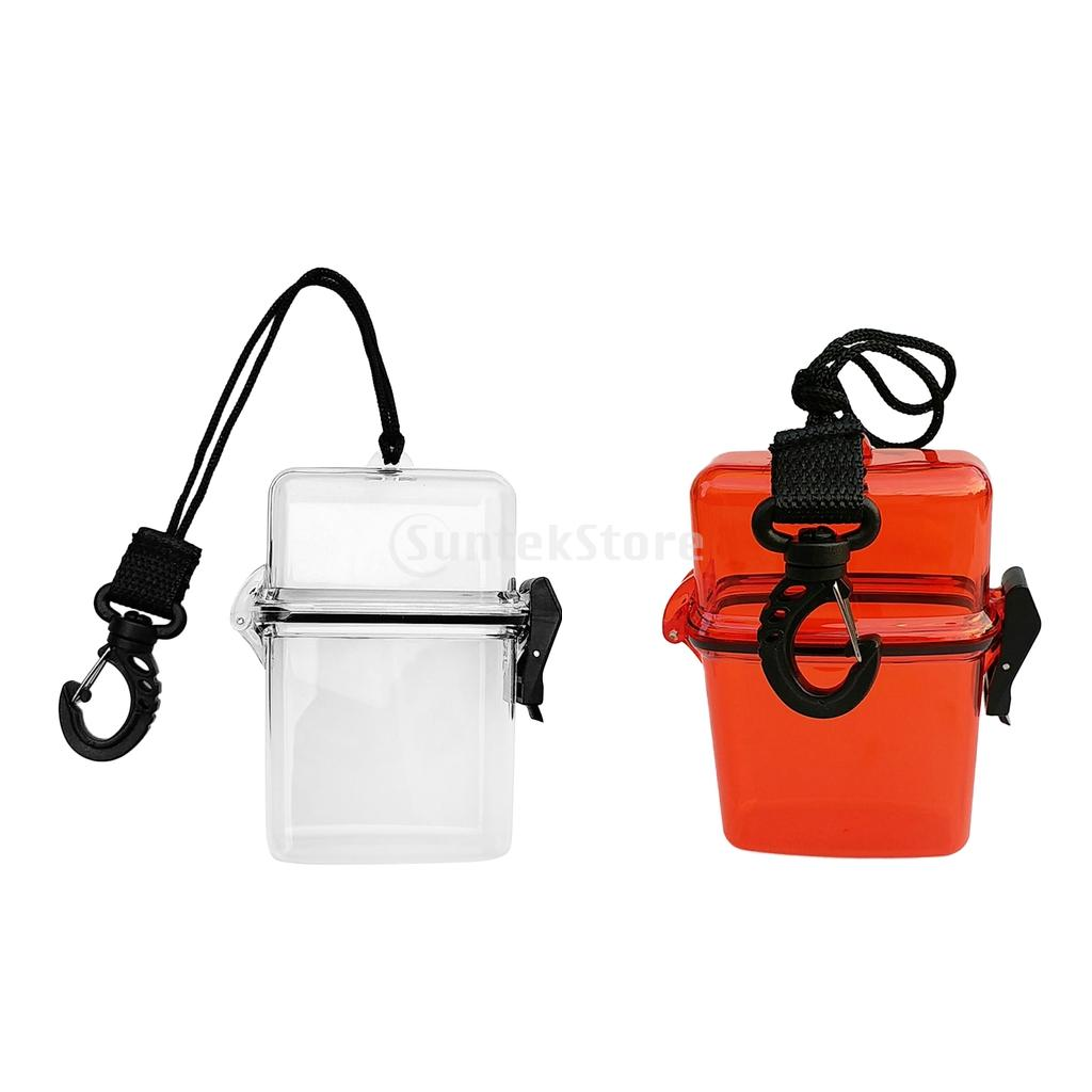 Scuba Diving Kayaking Waterproof Dry Box Gear Accessories Container Case & Rope Clip For Money ID Cards License Keys