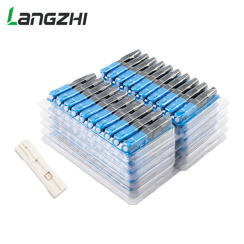 Langzhi 100 PCS SC Optic Fiber Quick Cold FTTH SC Single Mode UPC Fast Connector SC-UPC Optic Fiber Quick Connector