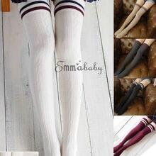 Пикантные Модные Полосатые гольфы для женщин; Повседневные Гольфы выше колена для женщин и девочек; коллекция года; теплые длинные гольфы