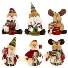 Santa Snowman Christmas Tree Window Decoration Goods Gifts Key Bookbag Hanging