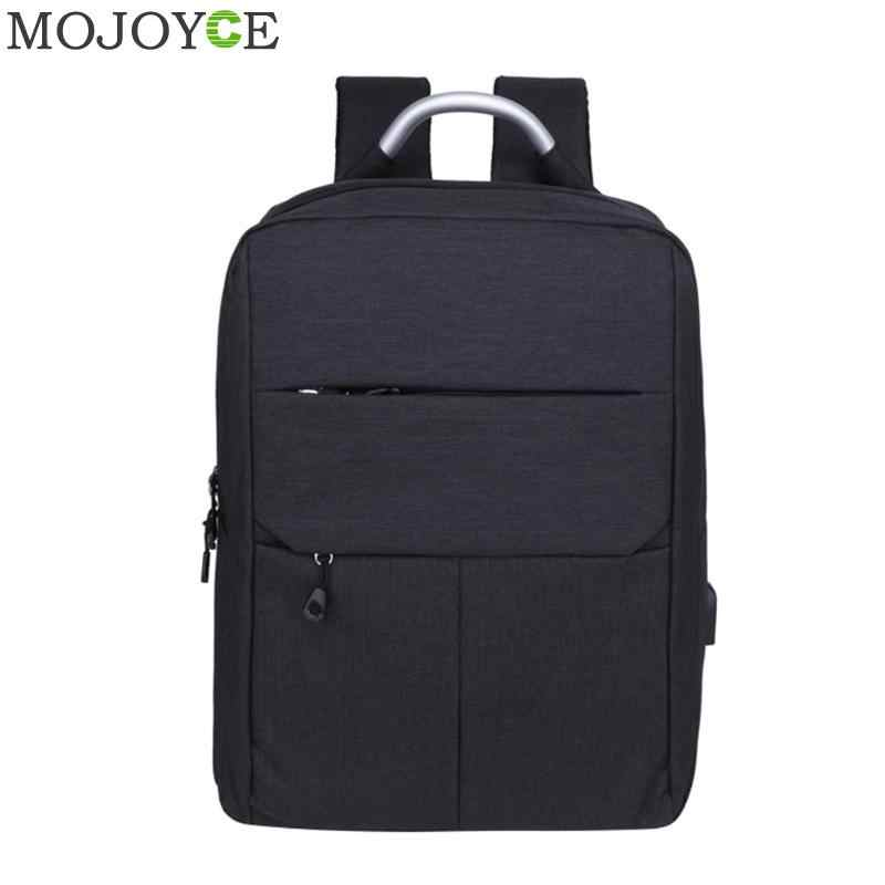 110765b639ce USB Charging Women Men Nylon Backpacks Teen Business Travel Laptop Rucksack  Fashion Shoulder Back Bag male