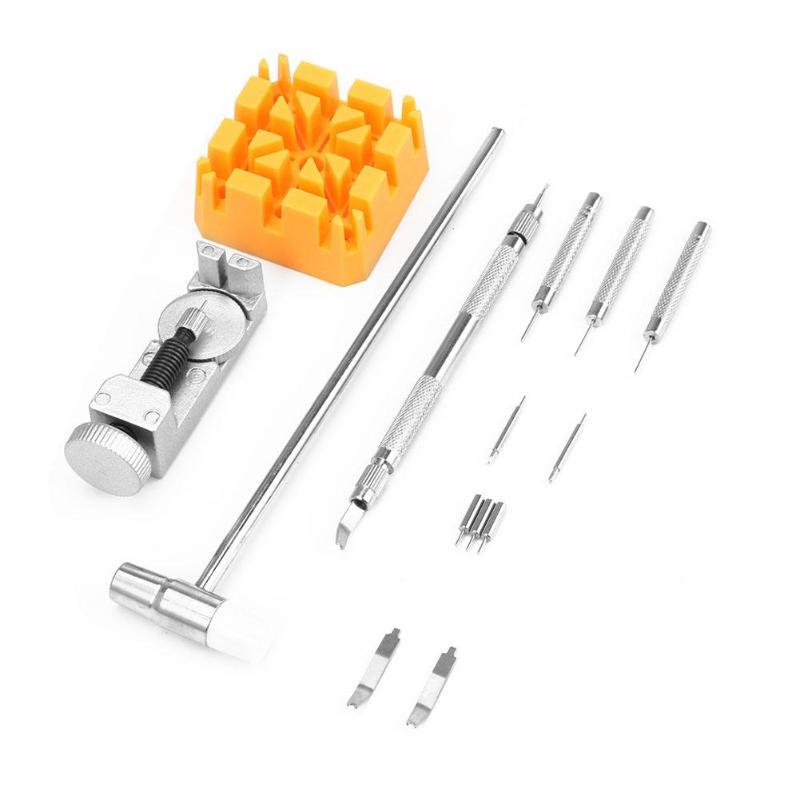 14pcs/set Watch Strap Link Pin Remover Battery Change Watchmaker Back Case Holder Spring Bar Tool