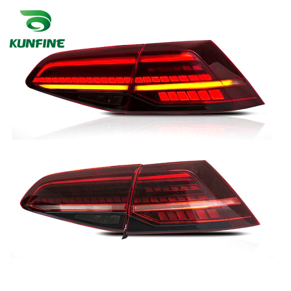 2018 Pair Of Car Tail <font><b>Light</b></font> Assembly For Volkswagen <font><b>GOLF</b></font> <font><b>7</b></font> 2013-2016 <font><b>LED</b></font> Brake <font><b>Light</b></font> Flowing Water Flicker Turning Signal <font><b>Light</b></font> image