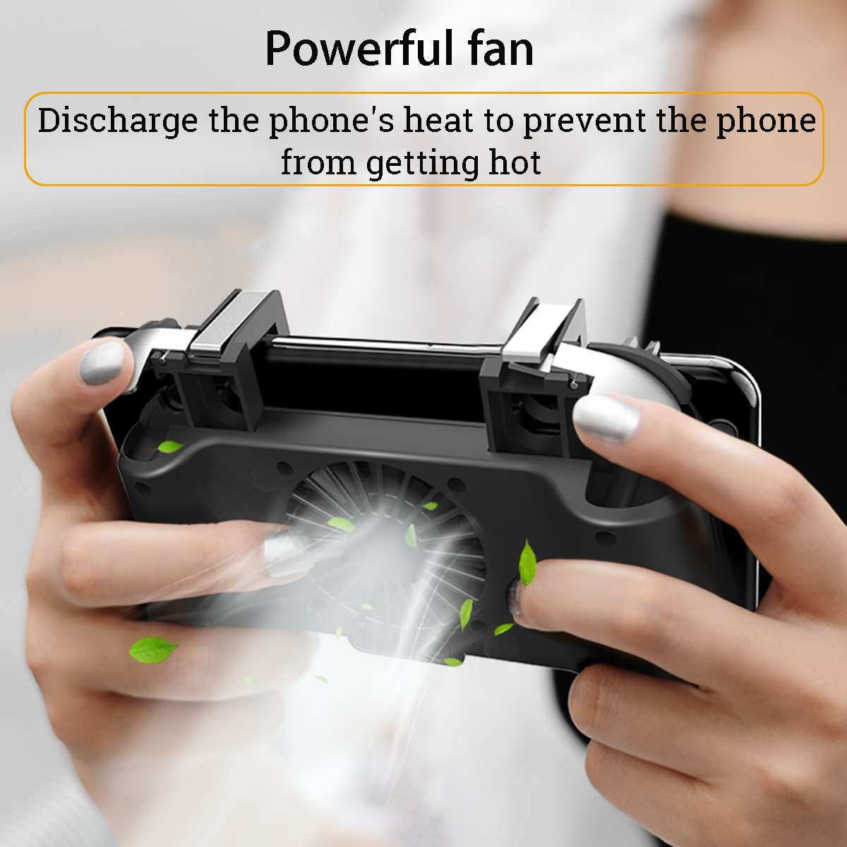 4 in 1 Mobile Phone Gaming Gamepad Joystick Controller Trigger Fires Button Power Bank Cooler Fan For PUBG For iOS Android