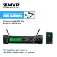 Professionelle SLX14 UHF Wireless Mikrofon Karaoke-System mit Cordless Taschensender Lavalier Revers Clip Mic 800-820 Mhz