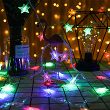 купить Holiday Wedding Party Christmas Decor LED String light Valentine e's Day Decor LED Star fairy light LED star string light D25 дешево