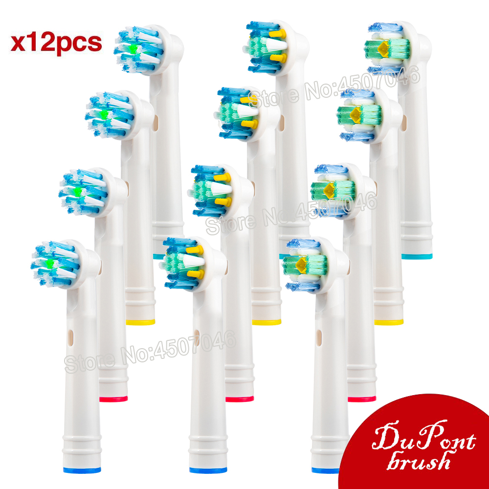 EB-18 25 50 For Braun Oral B Brush Heads Electric Toothbrush Heads - Includes 4 Floss Action, 4 Pro White & 4 Cross, more.. image