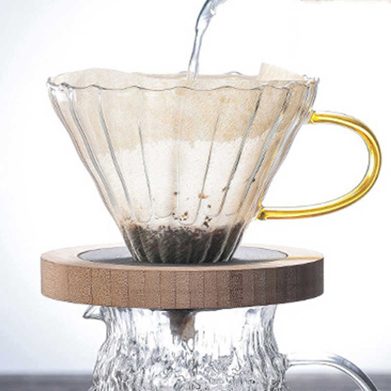 Café olla café Filtro de goteo taza permanente Pour café Maker para 1-2 tazas de Hario V60 goteo hervidor de agua
