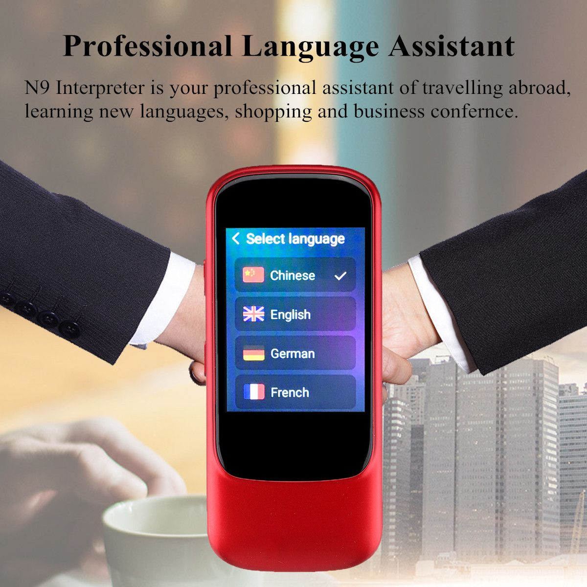N9 21 Languages Mini Intelligent Interpreter Instant Voice Translation Device For Android/IOS Two-way Translation