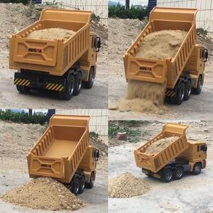 Image 3 - HUINA 332 1:16 Four Wheel Drive RC Dump Truck  Load 1kg children rc  Plastic Truck car toy