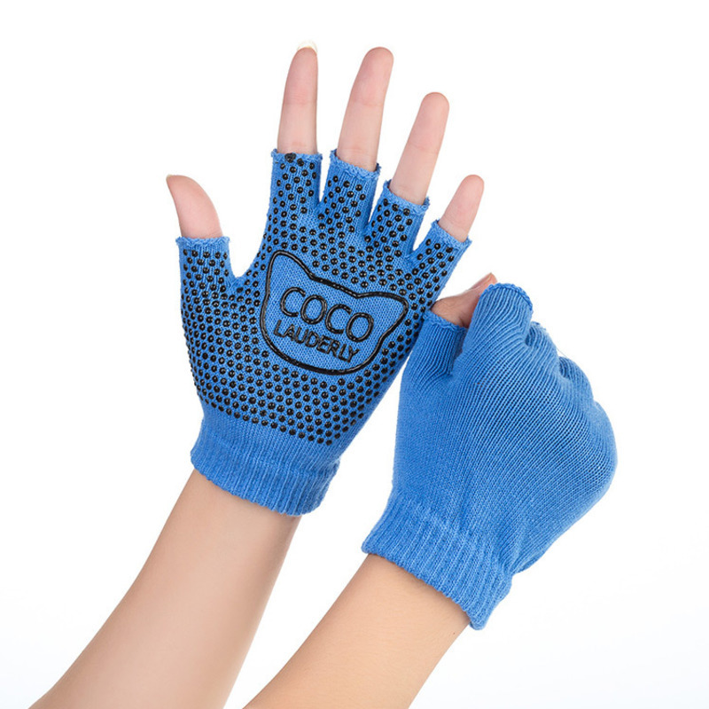 Hot Sale Unisex Half Finger Yoga Pilates Gloves Fitness Cotton Weightlifting Training Gloves Non Slip Breathable Exercise Gloves in Fitness Gloves from Sports Entertainment