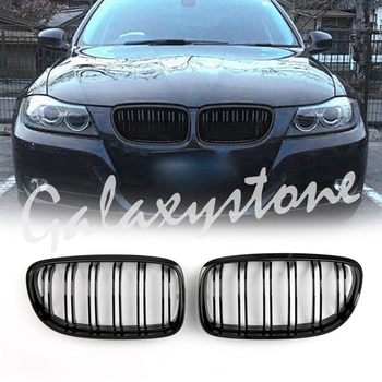 Front Kidney Grill Grilles Double Rib For BMW E90/E91 LCI 3 Series 2008 2009 2010 2012