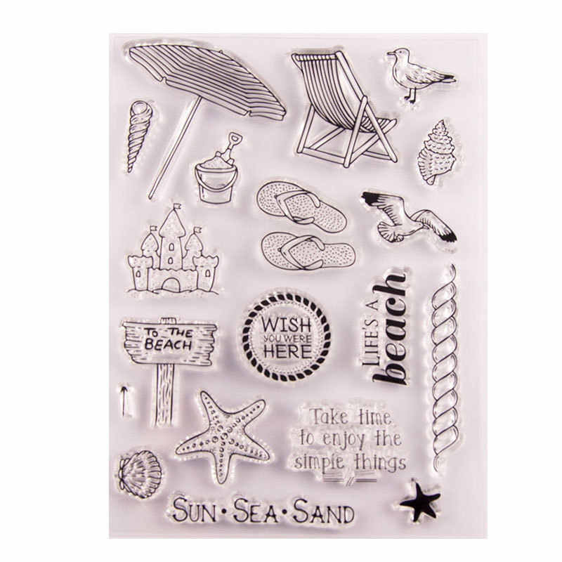 Letter Pattern Transparent Silicone Cartoon Stamps for DIY Card Making DIY Scrapbook Photo Album Clear Stamps for Cards Making Date