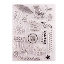 Wyse Clear Stamps Zee Reizen Strand Rubber Transparant Siliconen Stempel Scrapbooking Voor Diy Card Making Decor Craft Supplies(China)