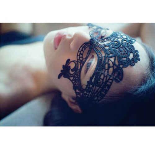 Menina sexo Máscara Do Laço Preto Oco Desgaste Da Noite Olho Sombra Mulheres Máscara Do Disfarce