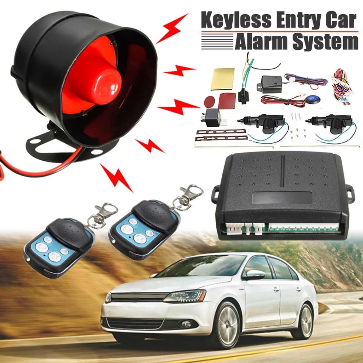 1 Set systèmes d'alarme voiture Auto Kit Central à distance serrure de porte verrouillage véhicule sans clé système d'entrée avec télécommandes
