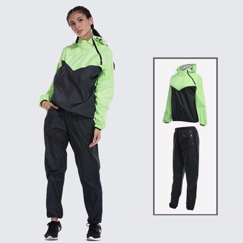 Perte de poids vêtements Yoga costume femme musculation extérieur randonnée Trekking sport Jogging transpiration femal veste pantalon