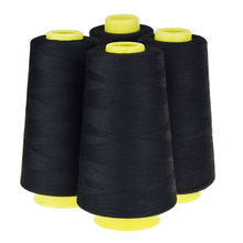 4 Cones (3000 yards each) Sewing Threads Polyester Threads Spool of Threads (402#) for Sewing Machine and Hand (White)