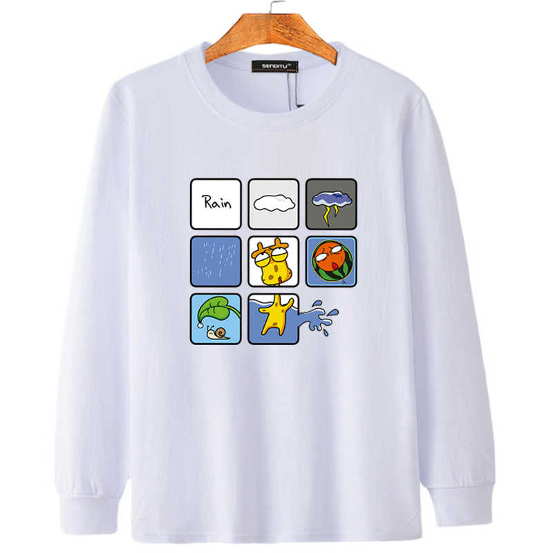 גדול גודל טי חולצה Mens ארוך שרוול מודפס מצחיק גדול 14 החבר שומן מתנה Spor T הגדול חולצה זכר בתוספת גודל 5XL 4XL 6XL
