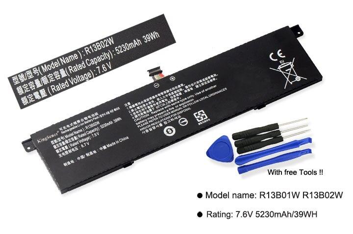 Kingsener nuevo R13B01W R13B02W batería del ordenador portátil para Xiaomi mi Air 13,3