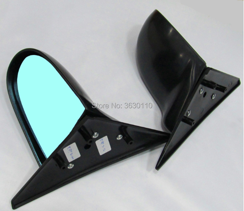 Manual Fits 94-01 Acura Integra 2dr SPN Style Side Mirrors ABS Black
