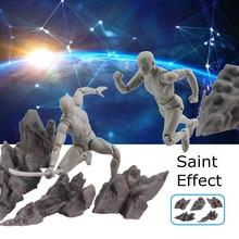 5 Teile/los Tamashii Wirkung Auswirkungen Grau Stein Fix Saint Seiya Dragonball Seele Figuren Modell Spielzeug Zubehör Kit Set