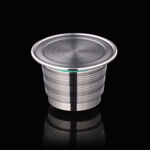 Refillable Upgrade Round Hole Nespresso Stainless Steel Empty Capsule Metal Reusable Coffee Filter Cup Cafe Dripper
