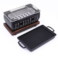 Korean Japanese BBQ Grill Food Carbon Furnace Barbecue Stove Cooking Oven Alcohol Grill Household Barbecue Tools S/M/L