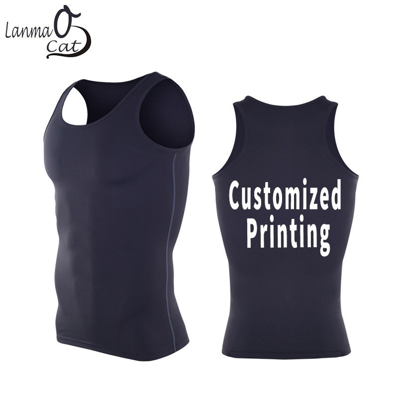 Lanmaocat Undershirts Bodybuilding   Tank     Top   Fitness Clothes For Men Custom Design Bodybuilding Vest XXXL Free Shipping