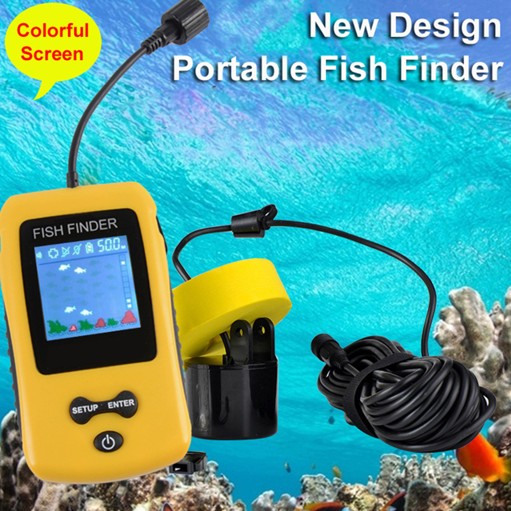 Portable Fish Finder Fishing Supplies Wired Easy Operation Practical LCD Display Sonar Sensor Ultrasonic AlarmPortable Fish Finder Fishing Supplies Wired Easy Operation Practical LCD Display Sonar Sensor Ultrasonic Alarm