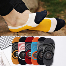 Fashion Breathable Ankle Socks Cotton Popular Stitching color Invisible Boat Men Soft