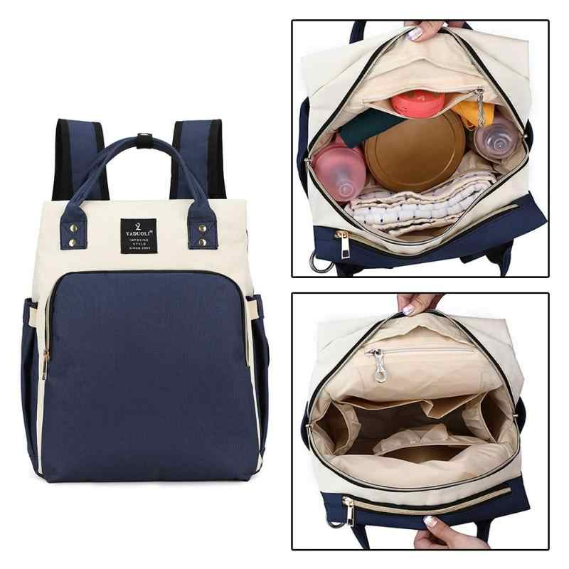Fashion Mummy Backpacks Nylon Travel Backpacks for Girls Maternity Nappy Bag  Waterproof Large Capacity Baby Bags 883484278694a