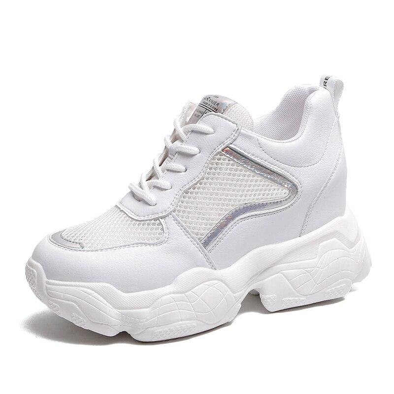 2019 New Summer Breathable Mesh Sneakers Hidden Increase 8