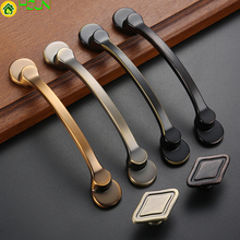 High Quality American Style Black Handles for Furniture Drawer Cabinet Kitchen Pull Knobs Handle Wardrobe Z-1131