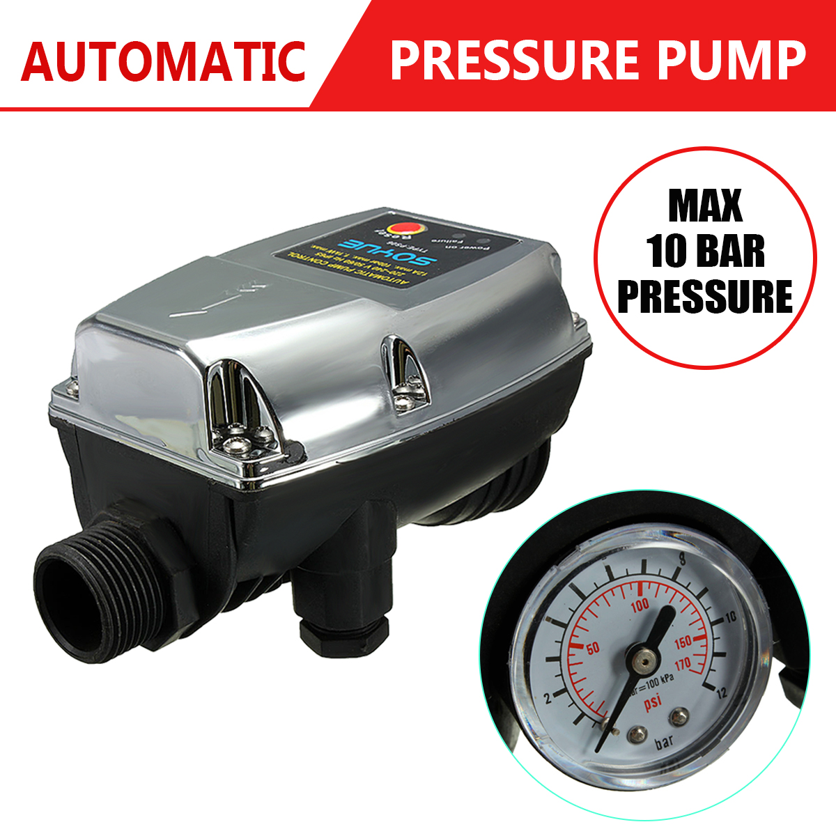 Newest 220V  1.1KW Automatic Pump Pressure Controller Electronic Switch Control For Water Pump Newest 220V  1.1KW Automatic Pump Pressure Controller Electronic Switch Control For Water Pump