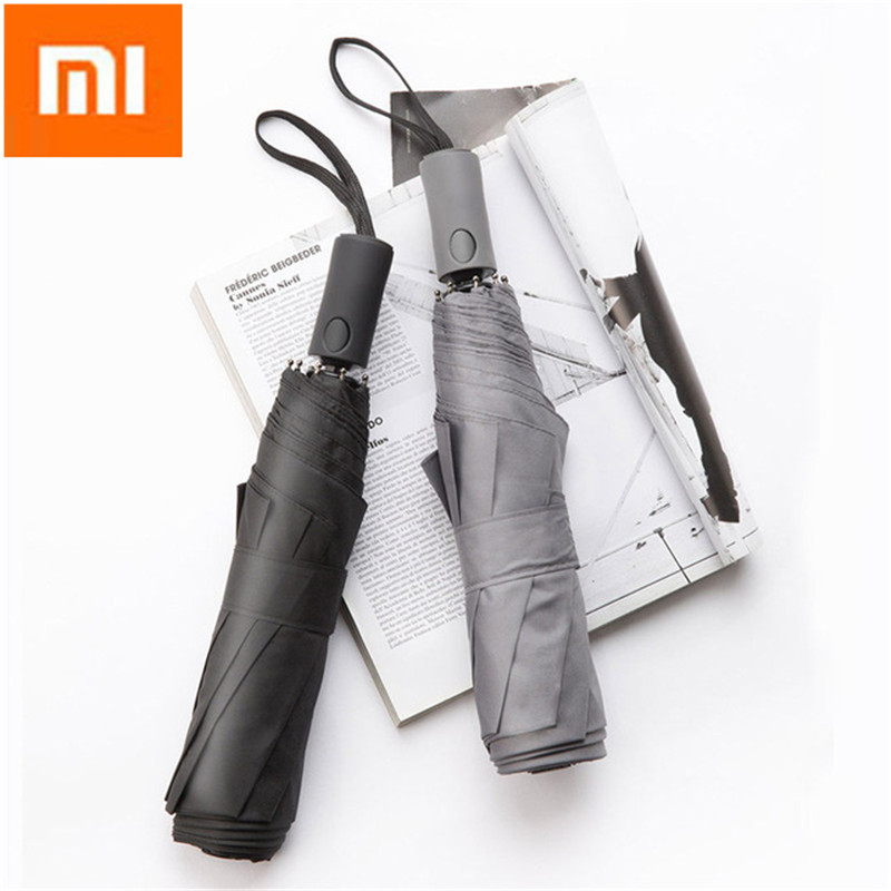Xiaomi Rain Gear 2 3 People 124cm UPF50+ Automatic Umbrella Portable Super Large UV Windproof Folding Sunshade Umbrellas