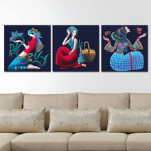 "Diamond embroidery Ashima - beauty in China's west the art of simplicity 19.68"" x  5d diamond painting"