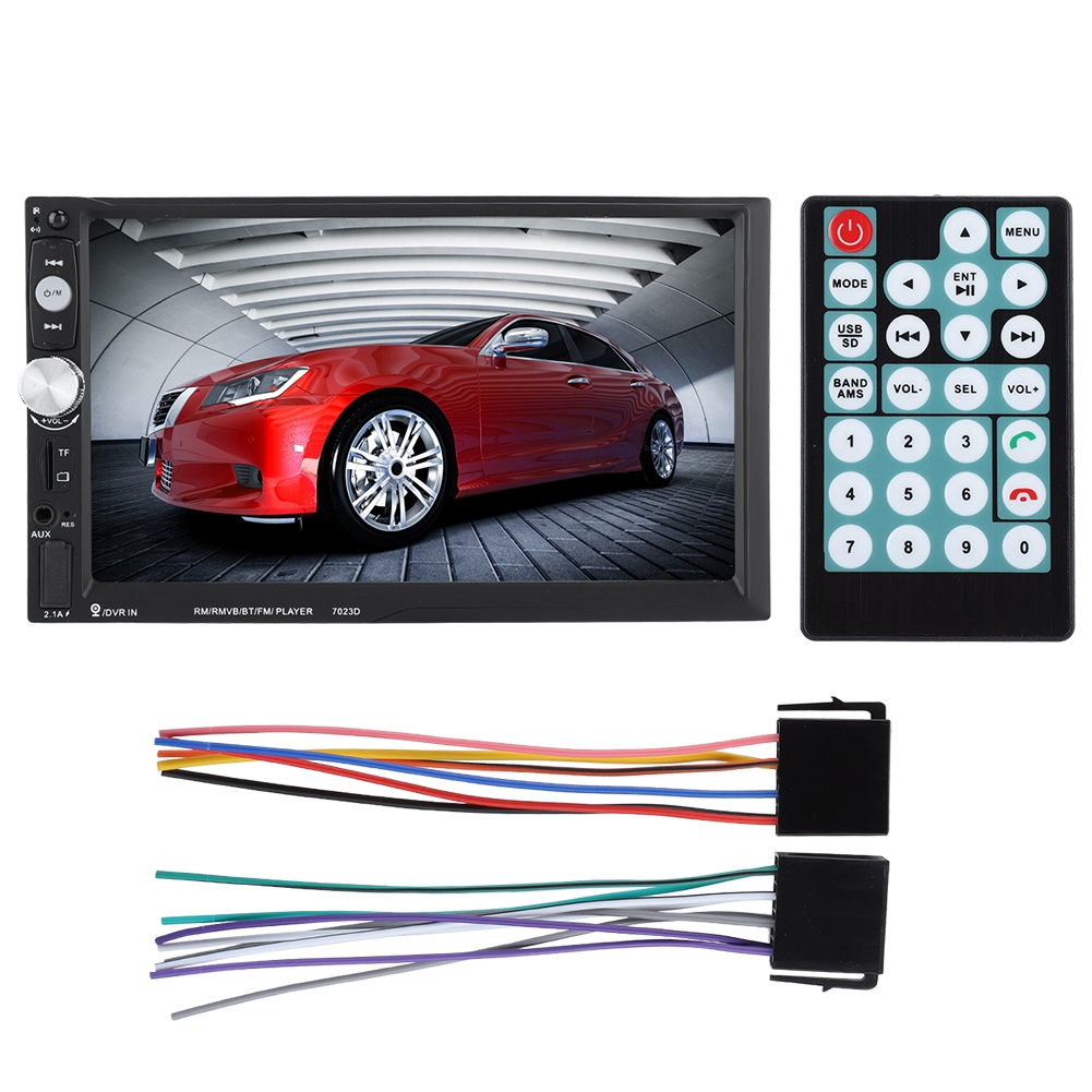 Mp4 Player 7 Zoll 2din Mp5-7023d Auto Radio Bluetooth Mp5 Mp3 Player Touch Screen Auto Multimedia Heißer Verkauf Auswahlmaterialien