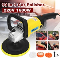 Car Polisher 1600W Variable Speed 3000rpm 180mm Car Paint Care Tool Polishing Machine Sander 220V M14 Electric Floor Polisher