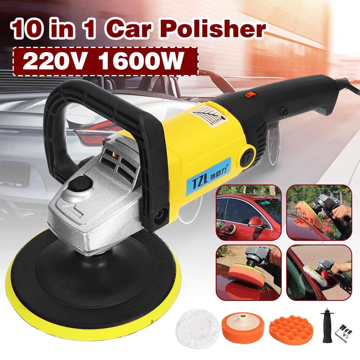 Polisseuse de voiture 1600W vitesse Variable 3000 tr/min 180mm voiture outil de soin de peinture Machine de polissage ponceuse 220V M14 électrique polisseuse de sol