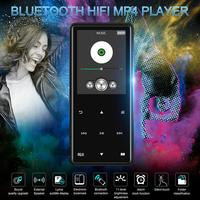 Bluetooth MP4 MP3 Player Portable Media Music Player 2.4 Inch Touch Screen Keys Metal CNC FM Radio HIFI Play Video ROM 8GB 16GB