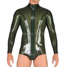 Sexy Rubber pantaloon jumpsuit Catsuit swimsuit bodysuit body suit