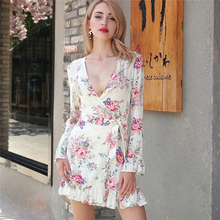 27544e352daa Buy lily flower print dress and get free shipping on AliExpress.com