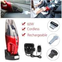 60W Mini Portable Cordless Vacuum Cleaner Aspirator For Car Home Use Dry and Wet Handheld Super Suction Dust Collector Cleaning