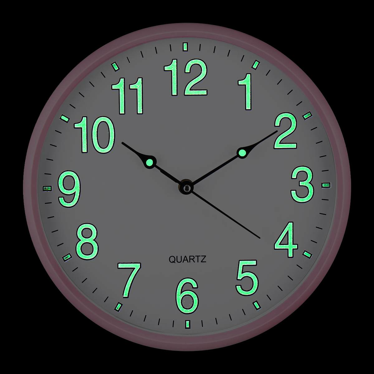 "4 Colors 12"" Wall Clock Glow In The Dark Silent Quartz"